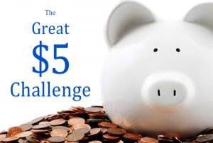 Five dollar challenge graphic