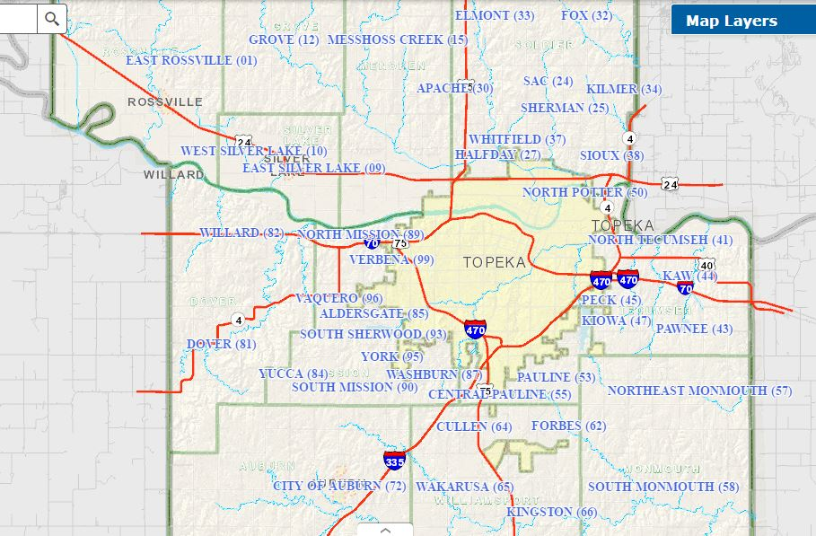 Map of Township Precincts | The Shawnee County (Kansas) Democrats