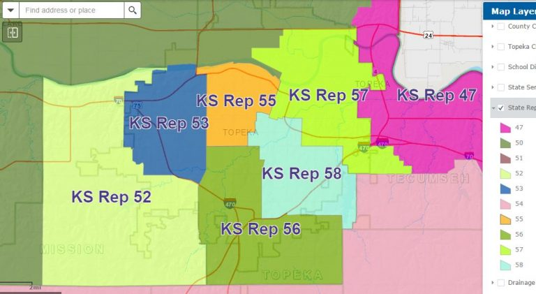 State Representative District Map | Shawnee County (Kansas) Democrats