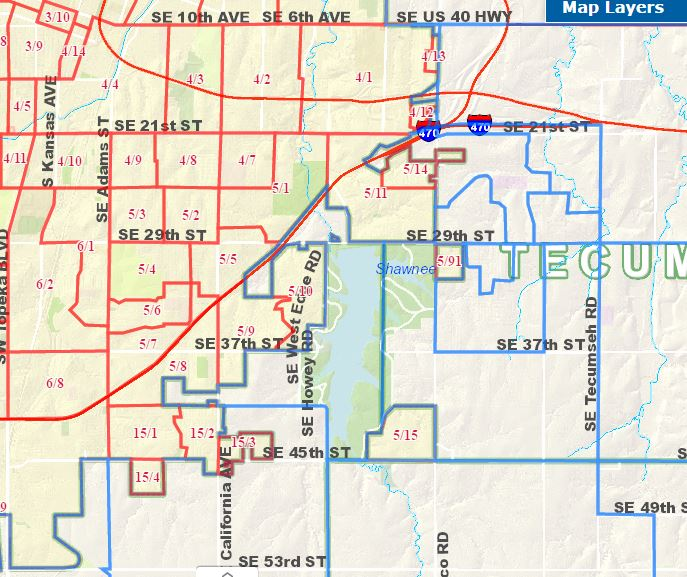 Topeka Precincts Map Shawnee County Kansas Democrats